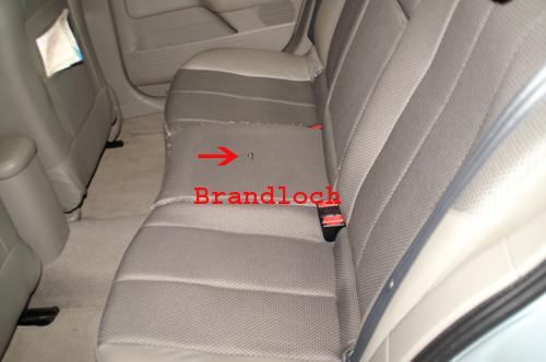 autositz brandloch